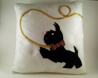 Unique throw pillows:  Dog owner gifts, westie gifts, scottie dog gifts