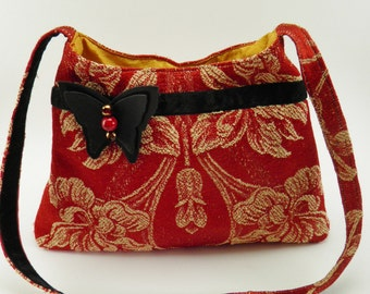 Cute handbags - 1930s fashion red purse, one of a kind