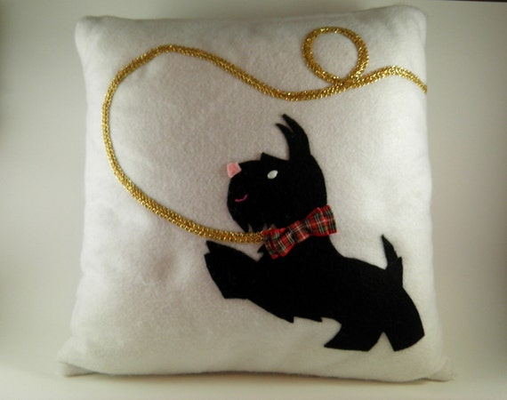 Unique throw pillows dog owner gifts westie gifts scottie for Unusual dog gifts