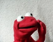 """Hand Puppet -- """"Urchin"""" -- Red"""