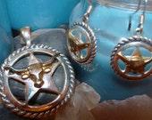 Steer Head Jewelry Set From Our ReRide Pen - Pendant & Earrings