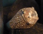 Vintage Inspired Large Rhinestone Dome Ring From Our ReRide Pen