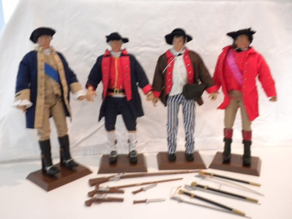 Dolls Soldiers of the World Revolutionary War Set of 4  By Formative International