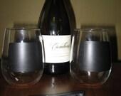 Chalkboard Wine Glass Stemless