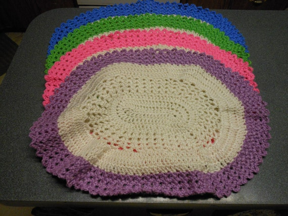 Crochet Placemats by CustomCrochetGifts on Etsy