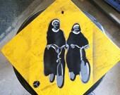 Caution: nun crossing