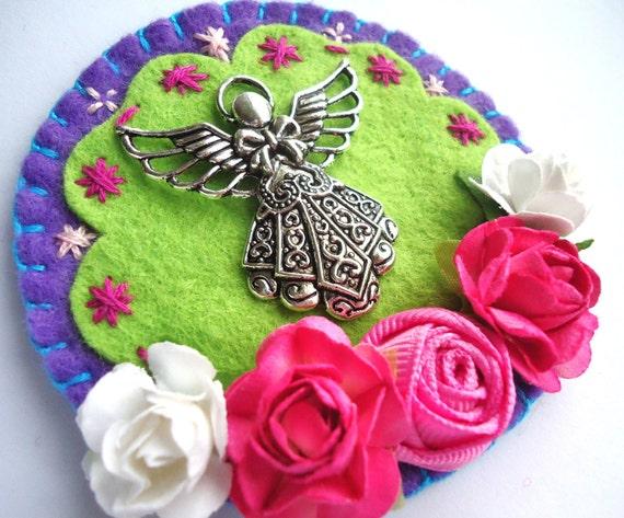 Angel Charm Felt Altar -Fridge Magnet, Wall Decor-