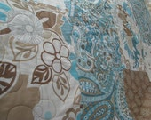 Spa Blue and Neutrals Quilt