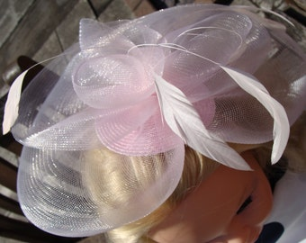 An Amazing Vintage Pink Hat / Headpiece with Feathers