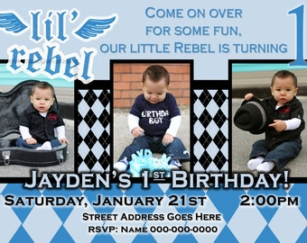lil rebel invite lil rebel birthday lil rebel party lil rebel birthday party lil rebel invitation boy 1st birthday invite boy invitation