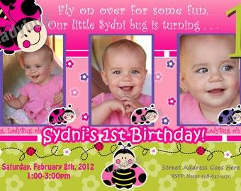 ladybug invitations Ladybug Invite Love bug invitation luv bug birthday party lady bug party LadyBugs: Oh So Sweet 1st Birthday