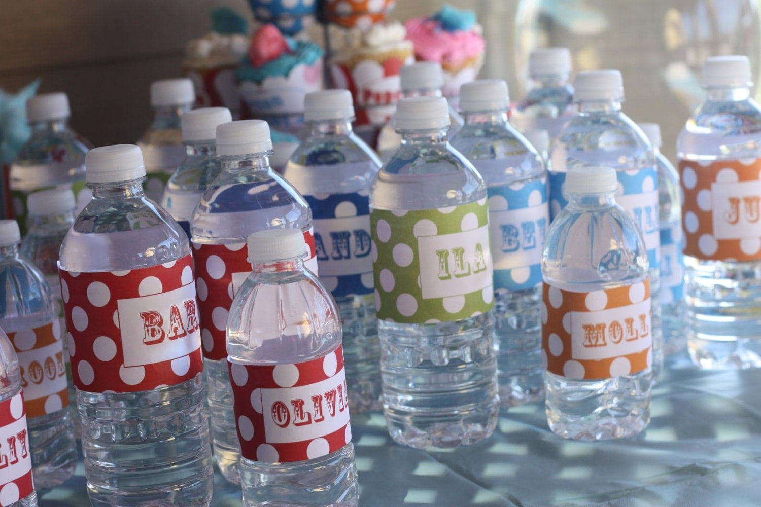 Carnival Water Bottle Labels Circus Water Bottle Wrappers