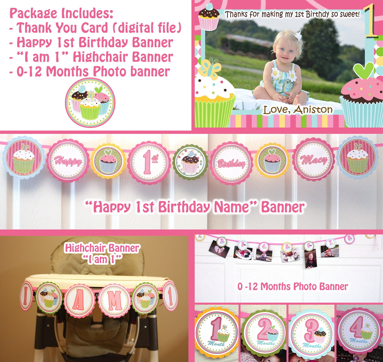 Cupcake Birthday Party Sweet Treats Cupcake Party Package