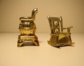 Rocking Chair and Stove Salt and Pepper Shakers