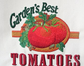 "Vintage Sign ""Garden's Best Tomatoes"" Tote Bag"