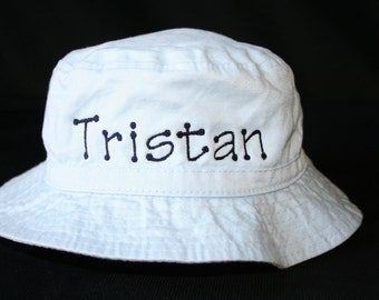 Personalized Infant Bucket Hat with Chinstrap