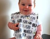 Baby bib elephants Minky bib summer children - 3littlerascals