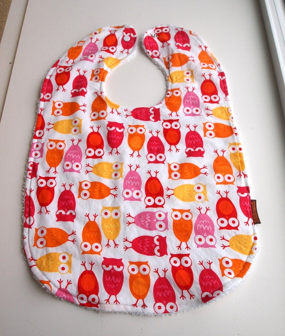Owl Baby bib Toddler bib girls