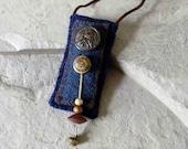 Fiber Necklace / Poem Keeper / Amulet Bag / Secret Keeper