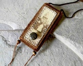 Former Children -  Poem Keeper / Fiber Necklace / Amulet Bag / Secret Keeper - ArtofJane2