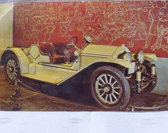 Postcard 1913 Semi Racing Roadster Unused Card 1964 Museum of Science Industry Chicago