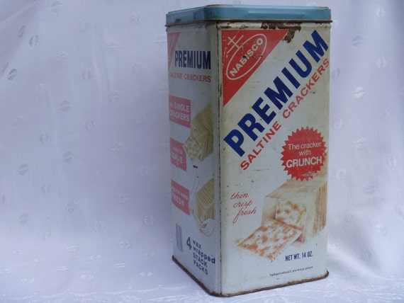 NABISCO PREMIUM SALTINE Cracker Can, 1969