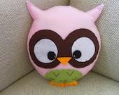 Large Baby Pink Owl Plush Toy/Pillow
