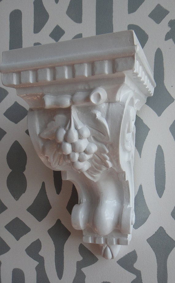 White LACQUER Wall Sconce Wall Bracket Shelf Display
