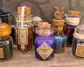 Miniature Glass Bottle filled with Purple Potion Number 7