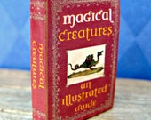 "Miniature Book ""Magical Creatures: An Illustrated Guide"" in 1/12 inch dollhouse miniature scale"