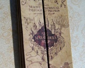 Marauders Map from the wizarding world in dollhouse miniature
