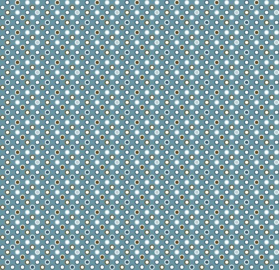 Custom listing for Kellie Mini Dots Fabric Blue