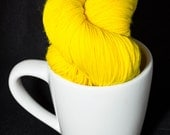 Super Bright Yellow 100% Superwash Merino Sock Yarn Big Badda BOOM