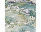 Cool Waters When the Fever Runs High - Small Print of Watercolor Painting