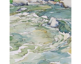 Cool Waters When the Fever Runs High - Limited Edition Print of Original Watercolor