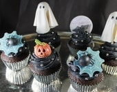 Halloween Cupcake Toppers - Creepy Characters