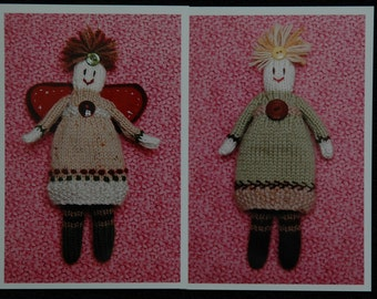 Original Knitted Doll Pattern (Hardcopy), 7 inches high ...