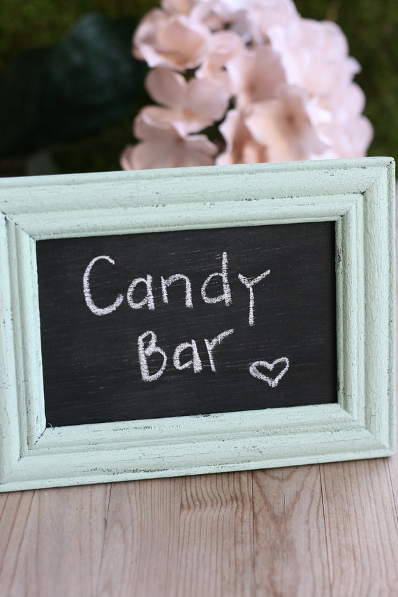 Rustic Wedding Chalkboard Frame Baby Shower Table By