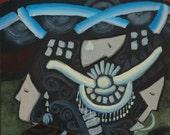 Long Horn Miao, Mien and Hmong - 8 1/2 X 11 Giclee Fine Art Print