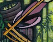 Dragon Flute Player - 8 1/2 X 11 Giclee Fine Art Print