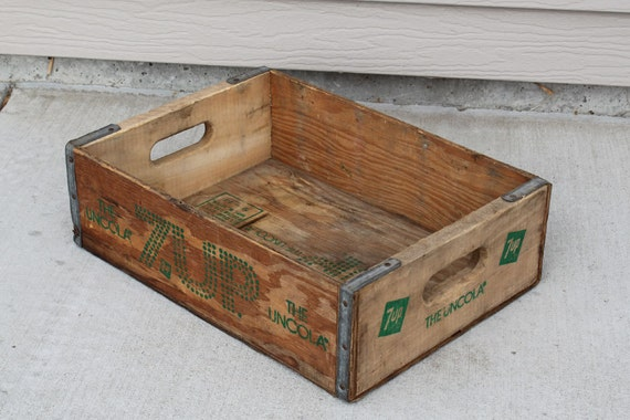 Wood 7 Up Crate, 7Up The Uncoloa Wood Crate