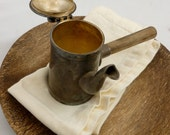 Turkish Coffee Maker, Cecilware, Pewter, Wood Handle