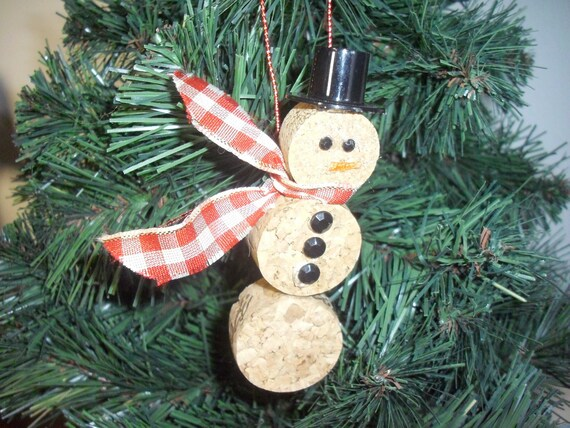Diy Christmas Ornaments Etsy : Snowman christmas ornament
