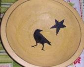 Country Prim Wood Bowl