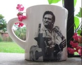 COFFEE CUP   Johnny Cash  1 Finger Salute  Can be Personalized
