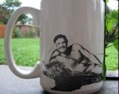 COFFEE CUP  Burt Reynolds Beyond Sexy Centerfold  Can be Personalized