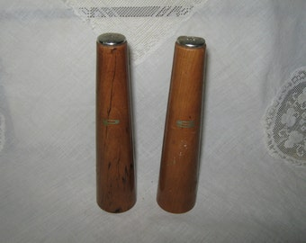 Salt and pepper shakers wooden mid century Danish modern