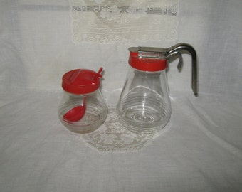 Syrup pitcher and condiment set