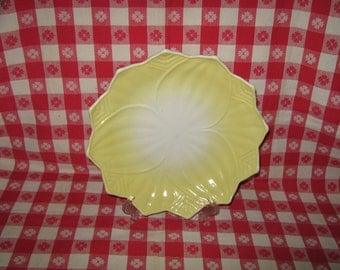 Sale  Fire King Lotus Blossom Plate Yellow Vitrock