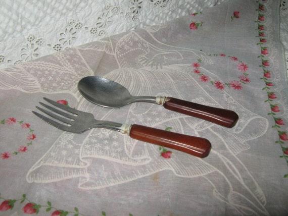 Bakelite baby fork and spoon